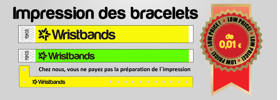 Bracelets d´identification TYVEK
